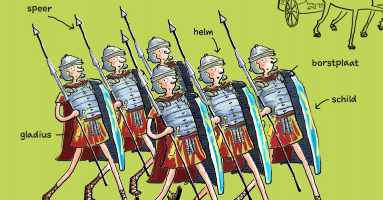 Kaft van het boek Professor Breinstein en de Romeinen