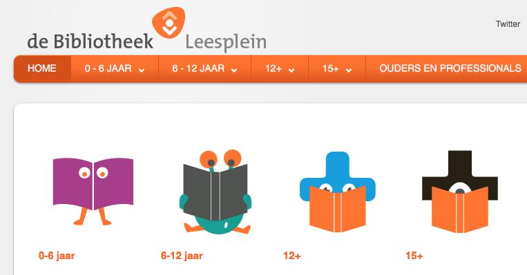 Screenshot van de website van Leesplein.