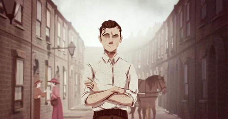 Still uit de animatie over Sidney George Lewis.